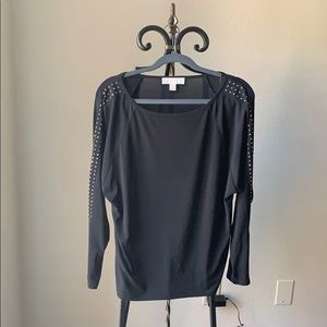 Michael Kors Studded Black Shirt